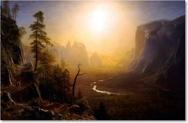 an analysis of albert bierstadts yosemite valley glacier point trail It includes thomas ayres' 1855 drawing valley of the yosemite, one of the  earliest representations of the park works by albert bierstadt and.