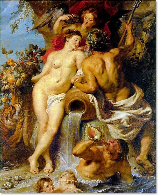 Peter Paul Rubens The Union of Earth and Water Riproduzione a olio, qualità museale