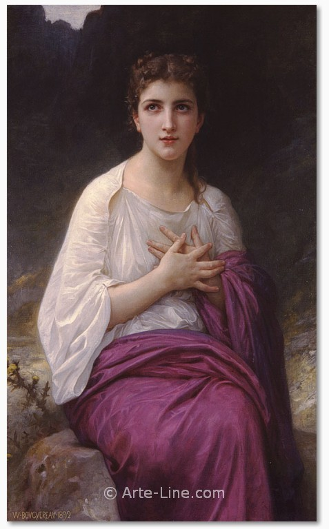 William Adolphe Bouguereau Psyche Riproduzione a olio, qualit� museale