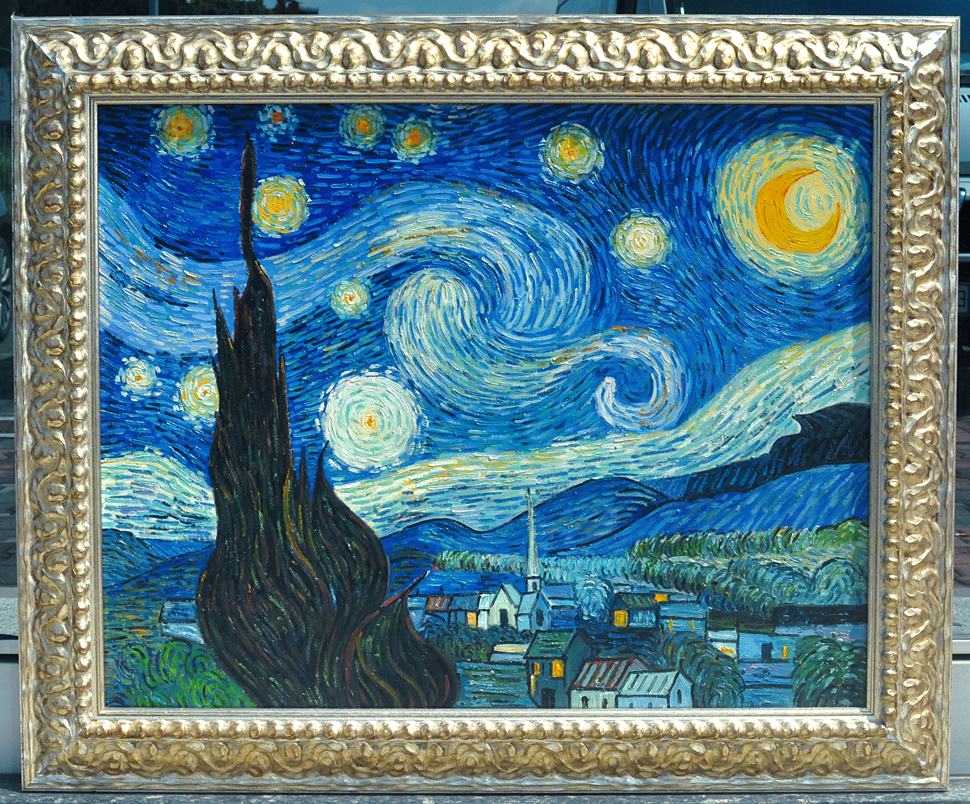 Van gogh notte stellata starry night arte line quadri for Van gogh notte